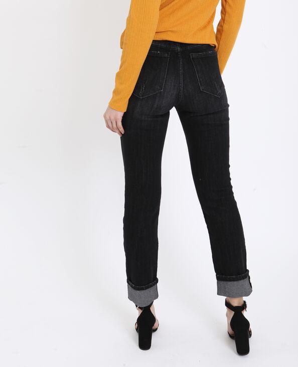 Slim mid waist noir