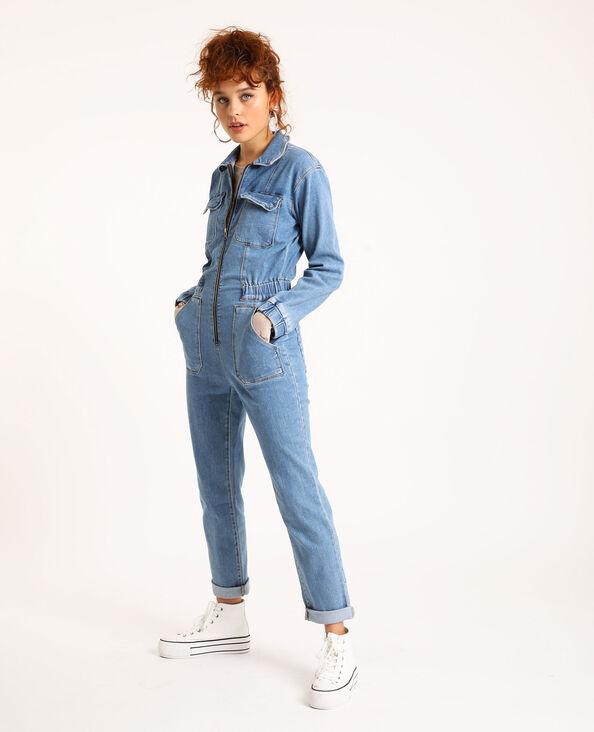 Jumpsuit van jeans hemelsblauw