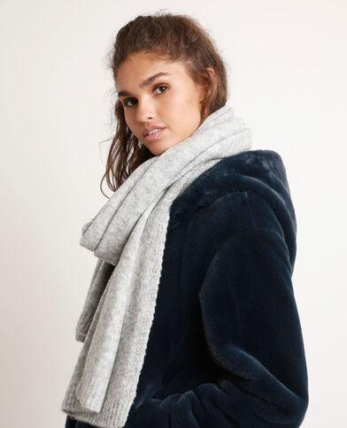Warme sjaal gemêleerd grijs