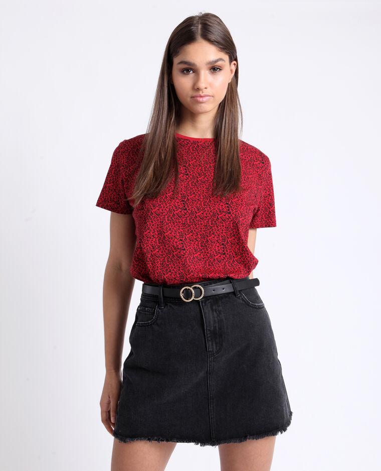 T-shirt met print rood
