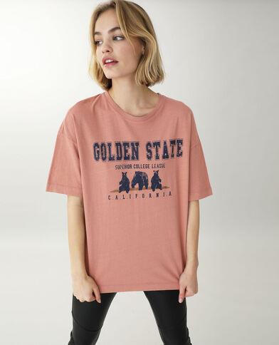 T-shirt manches courtes rose - Pimkie
