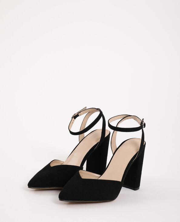 Sandalen met puntneus zwart