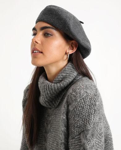 Wollen baret grijs