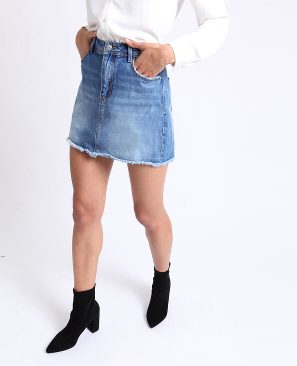 Jeansrok donkerblauw