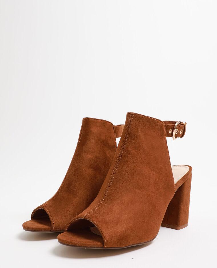 Sandales ouvertes marron