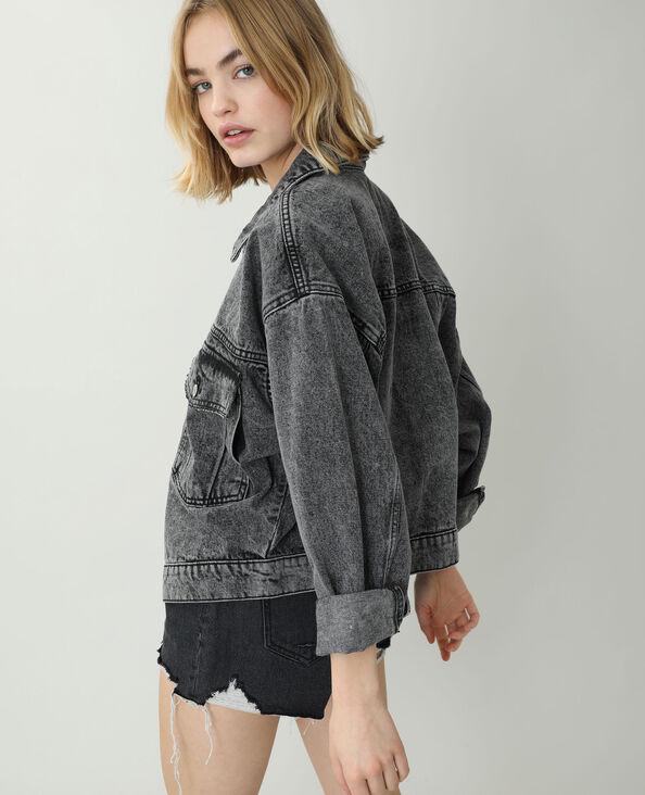 Veste en jean oversize noir