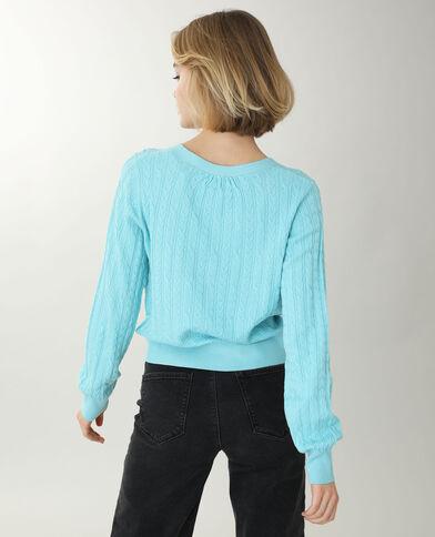 Vest met kabelpatroon zeeblauw - Pimkie