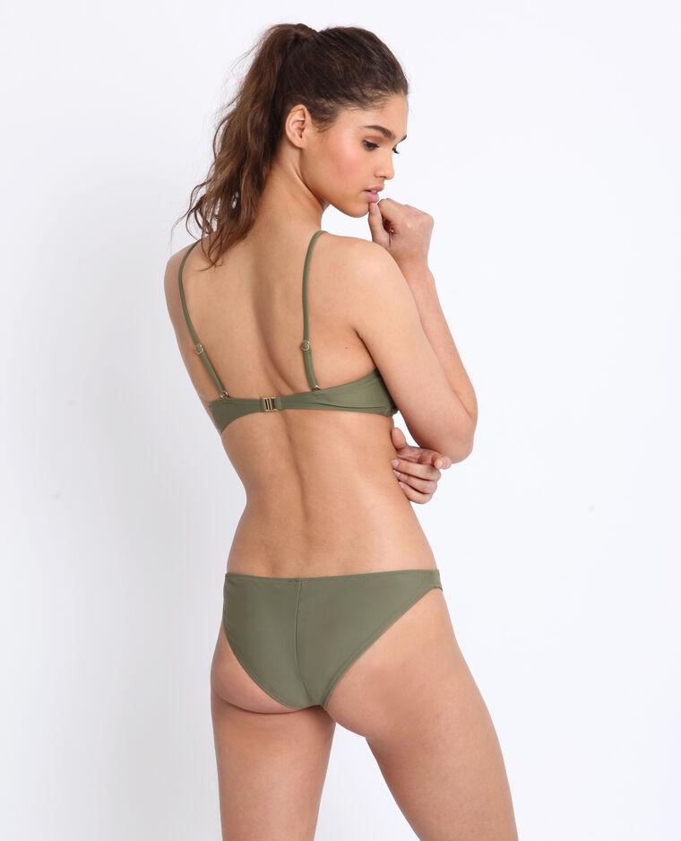 Bas de bikini tanga kaki