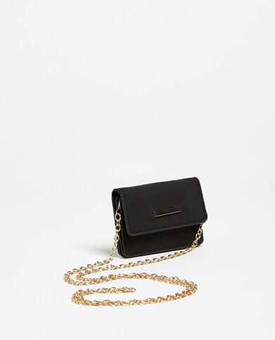 Portemonnee met schouderband zwart
