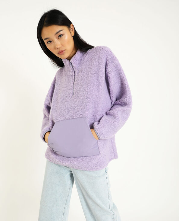 Sweater van sherpa violet