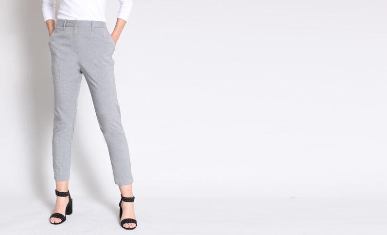 Pantalon cigarette gris chiné 58b47ece8ece