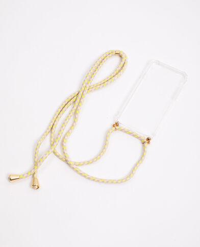 iPhone-hoesje met koordje beige