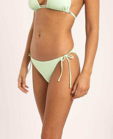 Laag uitgesneden bikinislip fluogroen