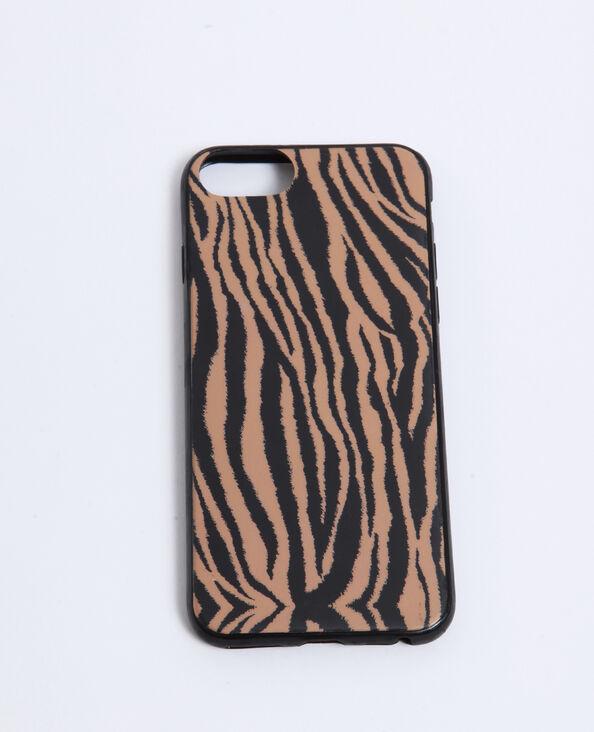 iPhone-hoesje met zebraprint kastanjebruin