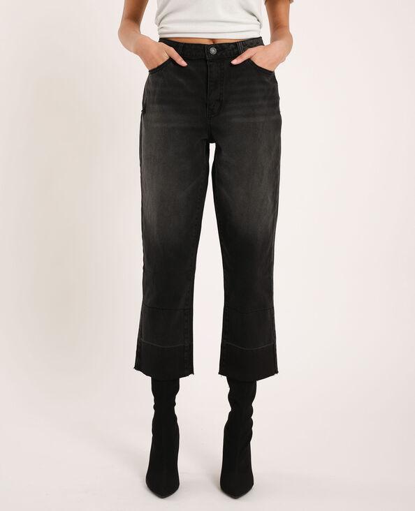 Straight-fit jeans zwart
