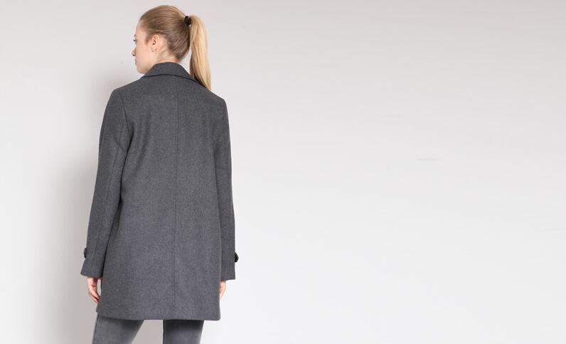 Halflange jas grijs