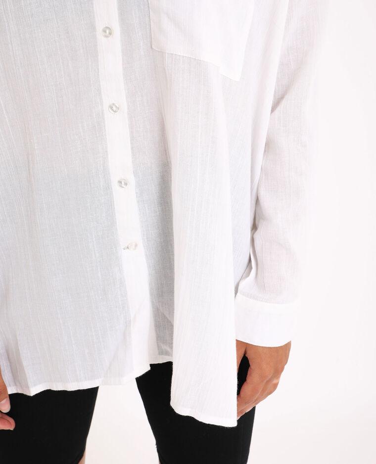 Chemise oversized blanc