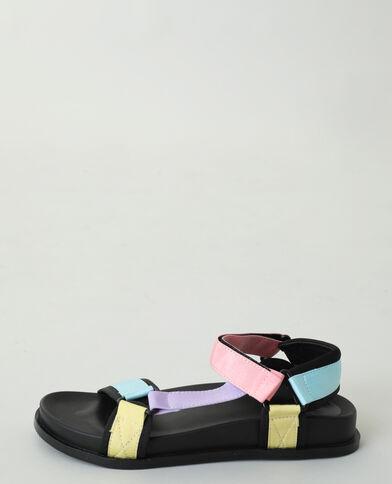 Sandales multicolores bleu - Pimkie