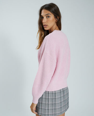 Trui van tricot roze - Pimkie