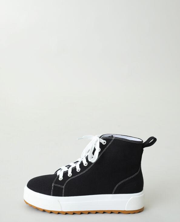 Hoge sneakers met platformzolen zwart - Pimkie