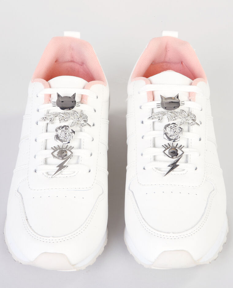 Schoenjuwelen zilvergrijs
