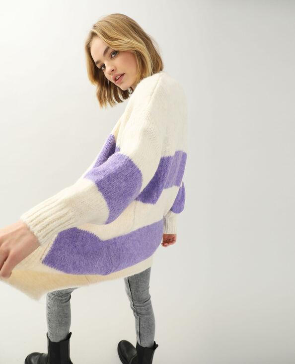 Gilet long violet