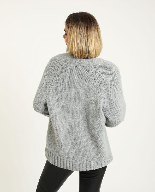 Gilet ample gris