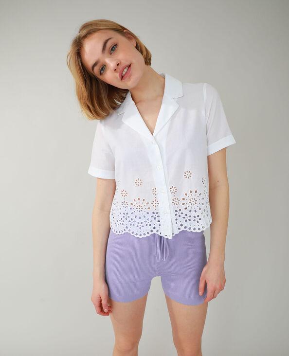 Hemd met Engels borduurwerk wit - Pimkie