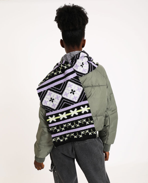 Sjaal met print violet