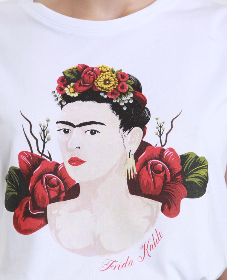 Frida Kahlo T-shirt wit
