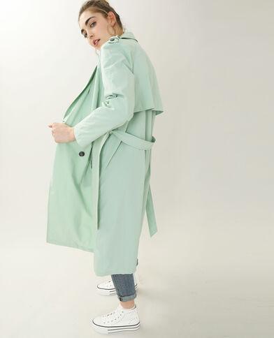Lange trenchcoat groen - Pimkie