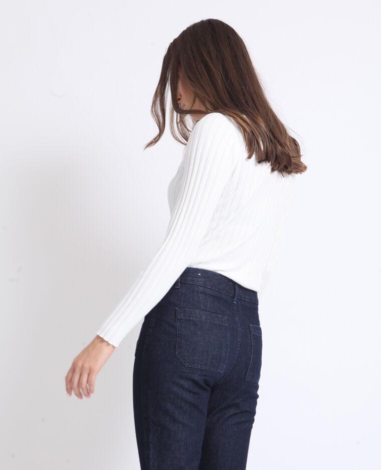 Polo à manches longues blanc