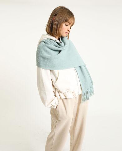 Sjaal met franjes groen