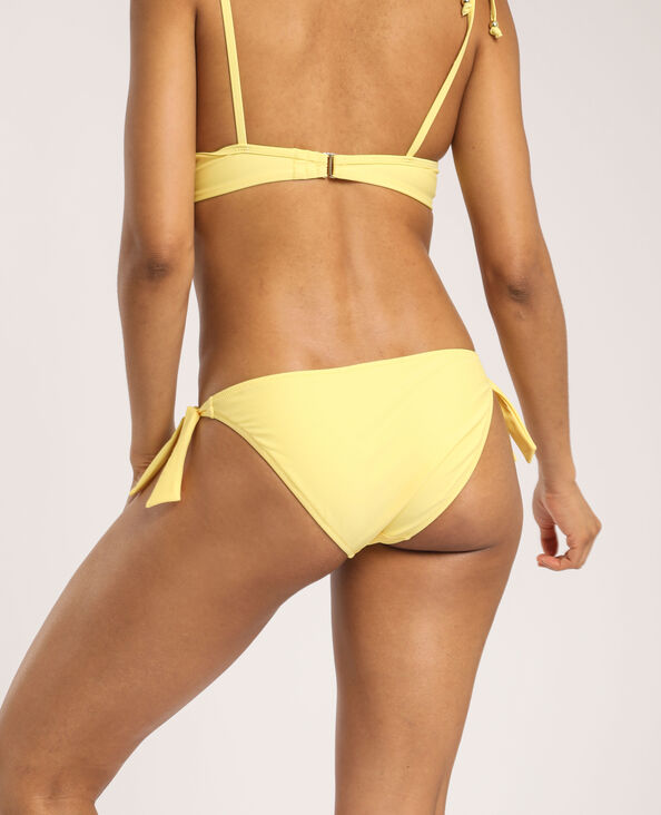 Bikinislip met strikje geel