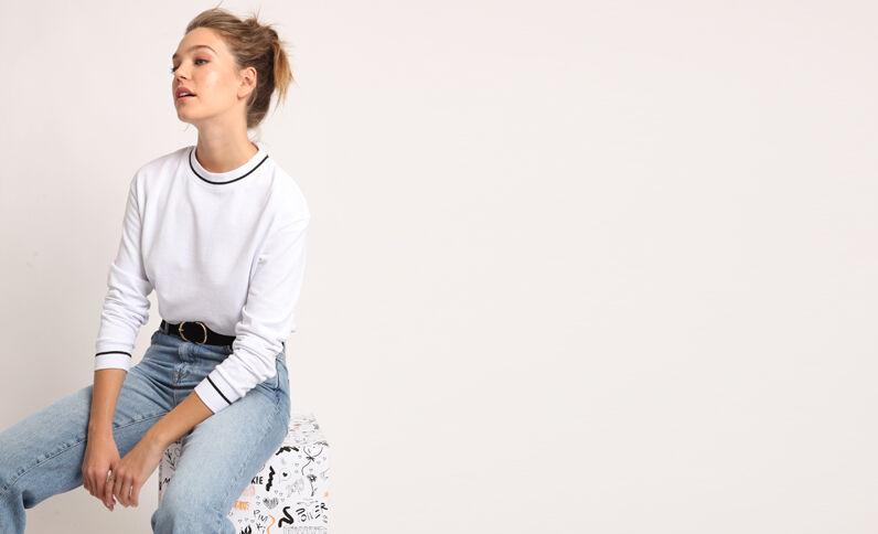 Effen sweater wit