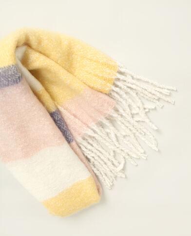 Warme sjaal geel