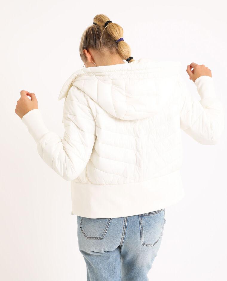 Doudoune à capuche blanc cassé - Pimkie