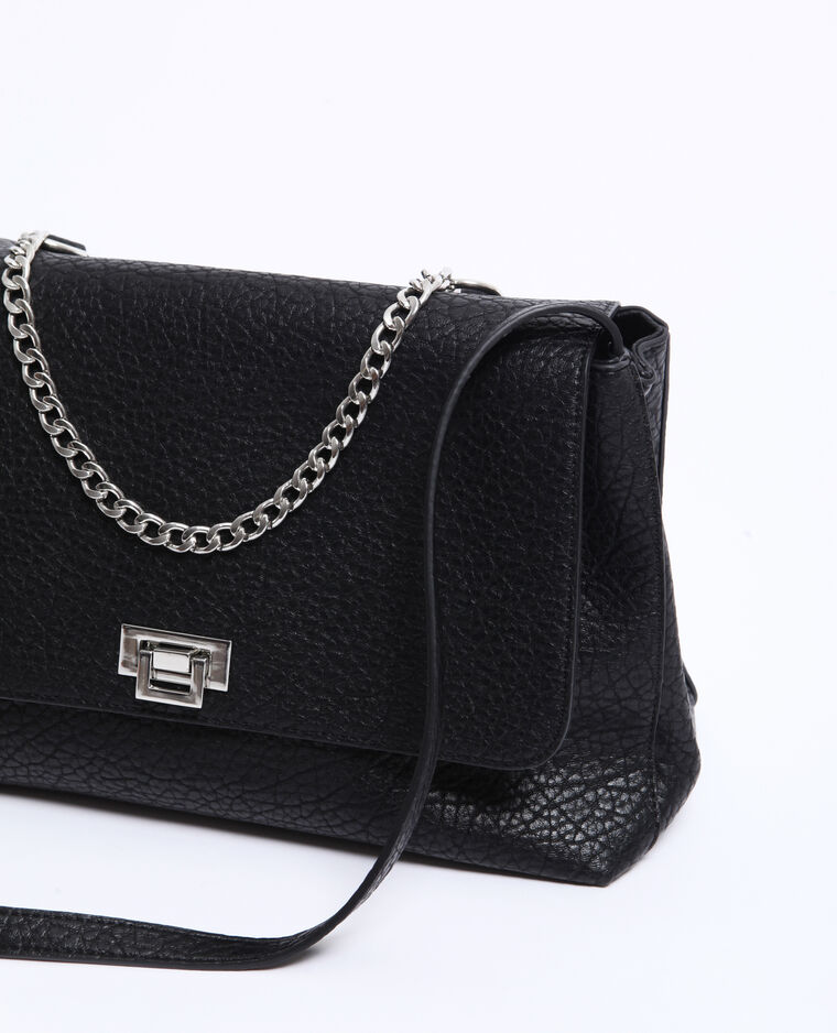 Grand sac en simili cuir noir