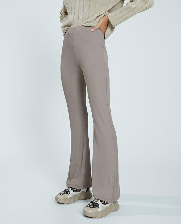 Flared broek camel - Pimkie
