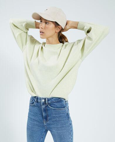 Trui van dun tricot bleekgeel - Pimkie