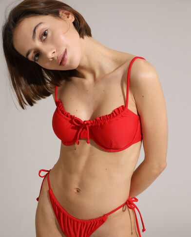 Bas de maillot culotte transformable rouge