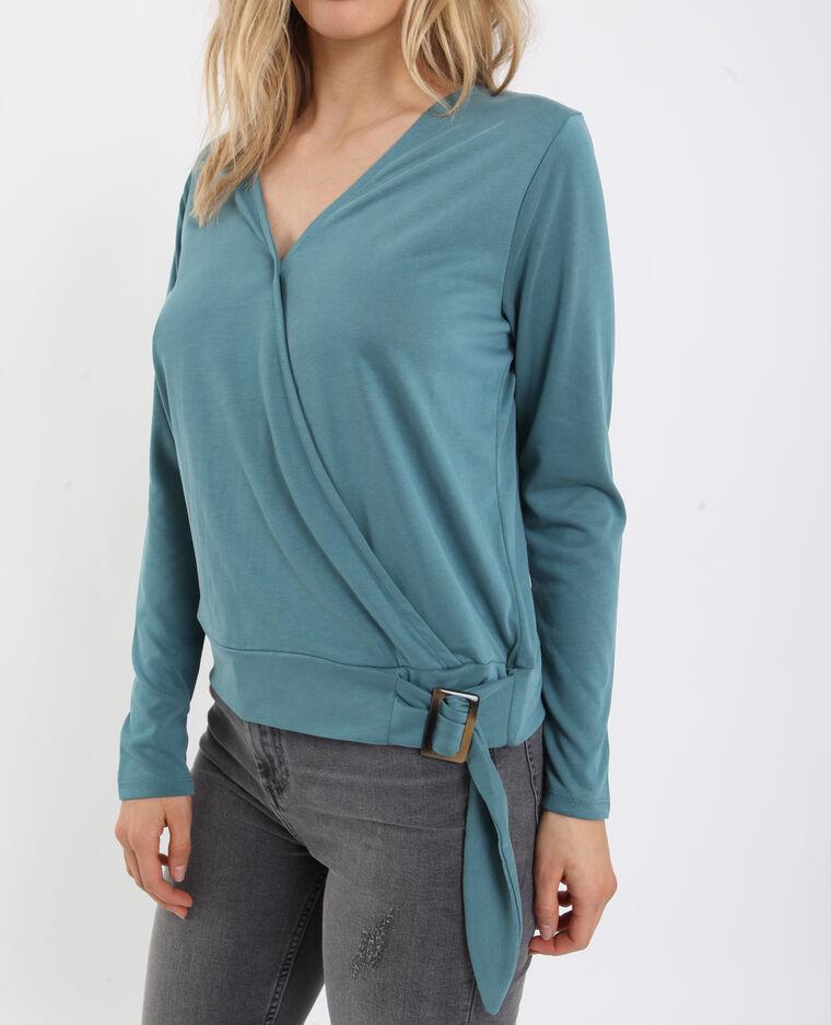 Gekruist shirt groen