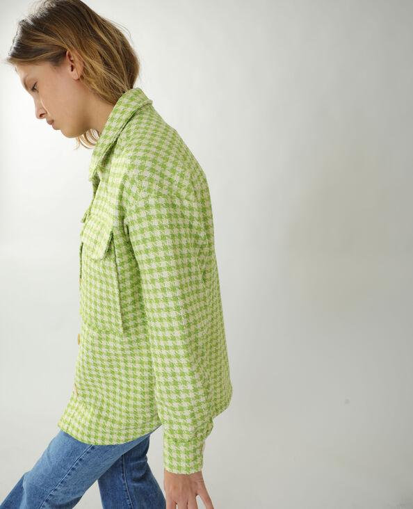 Surchemise en tweed vert