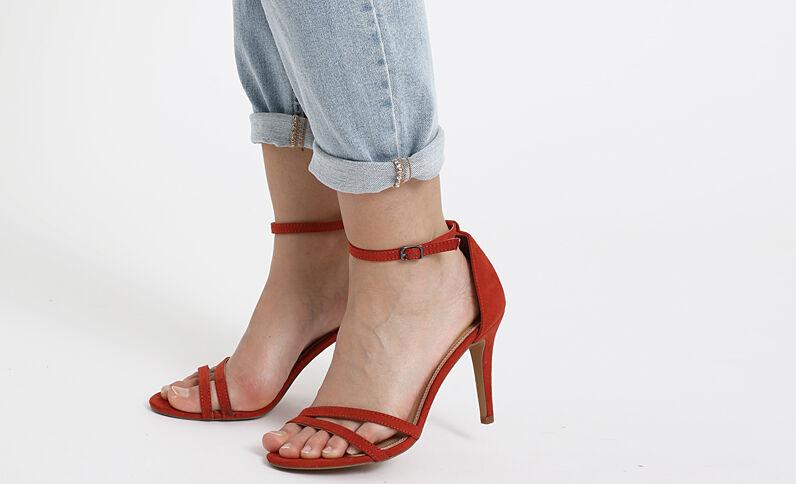 Sandales à talons aiguilles rouille