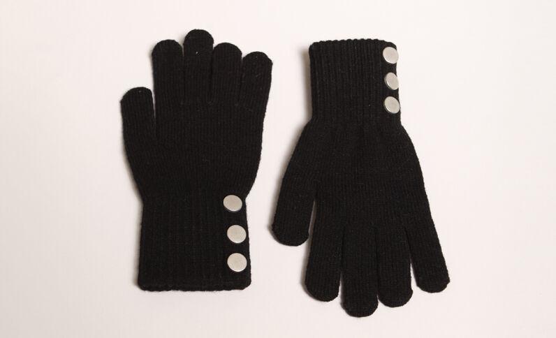 Handschoenen met knopen zwart