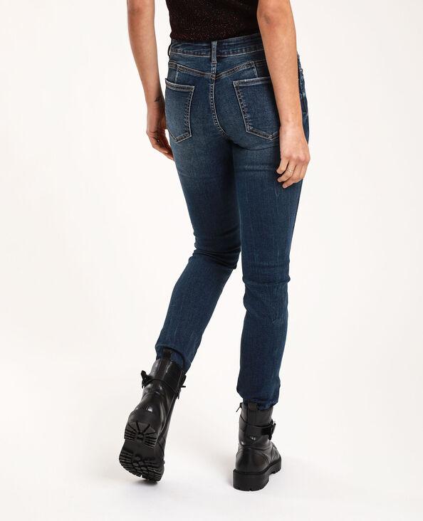 Push-up jeans met middelhoge taille donkerblauw - Pimkie