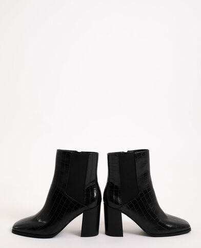 Laarzen met kroko-effect zwart