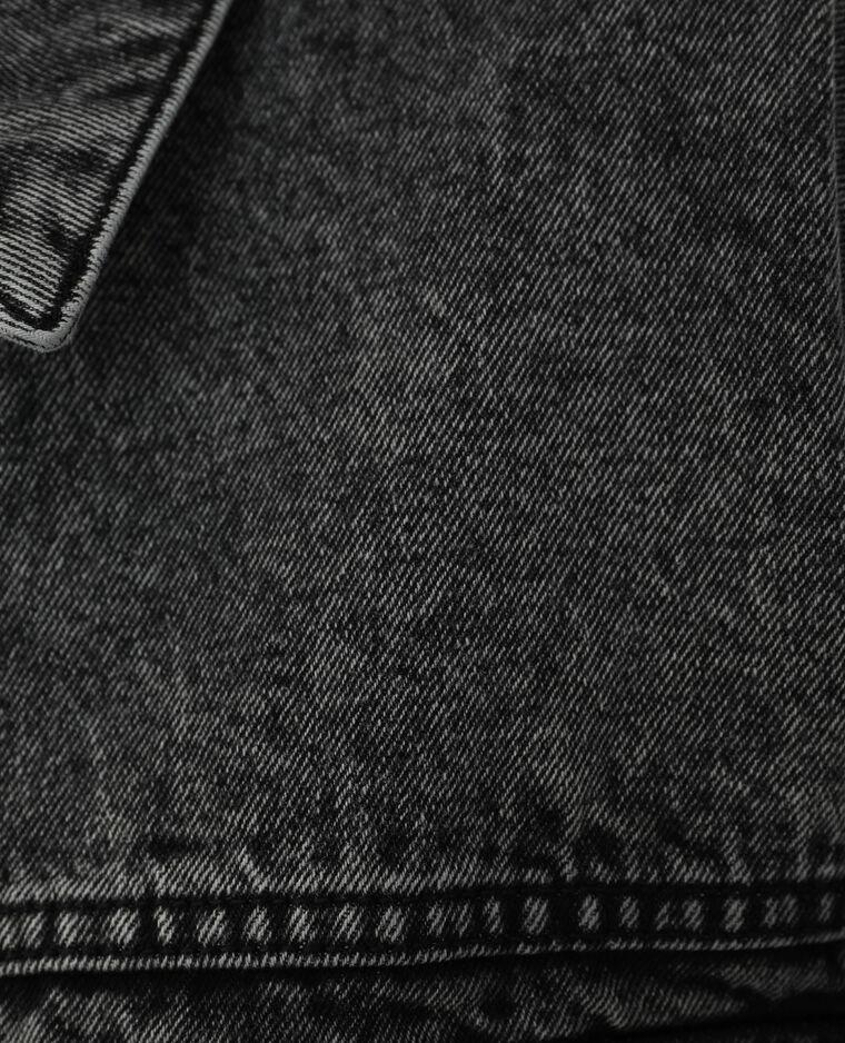 Oversized jeansvestje zwart - Pimkie