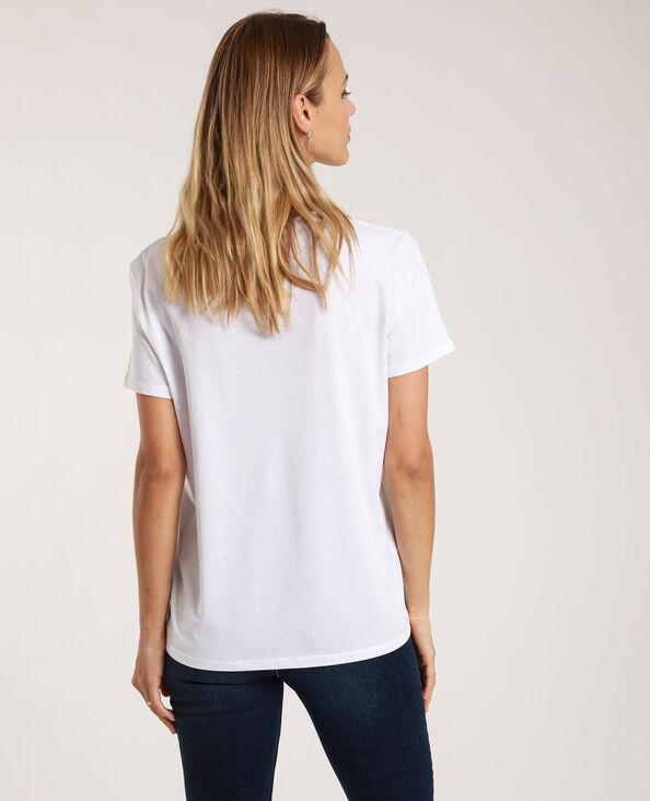 T-shirt met tekst ecru