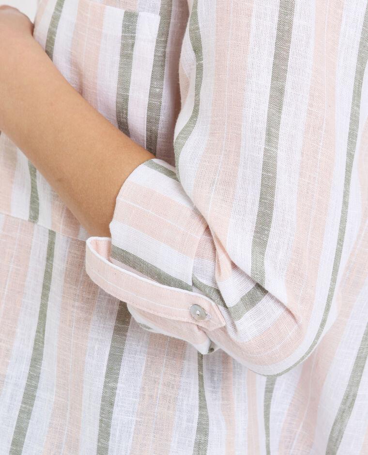 Hemd met strepen kaki